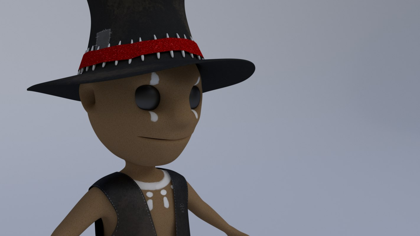 3D model voodu adorable witch