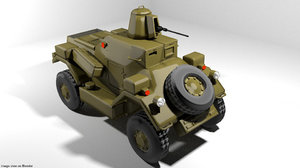 armoured car daimler model