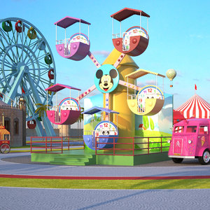 theme park 3D model