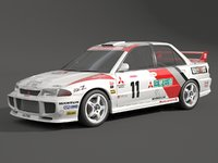3D mitsubishi evolution evo model