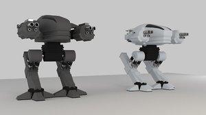 3D ed209 character model