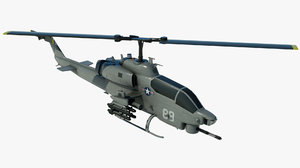 3D military helicopter bell ah-1 cobra model