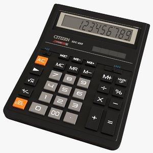 realistic citizen calculator sdc-888 3D model