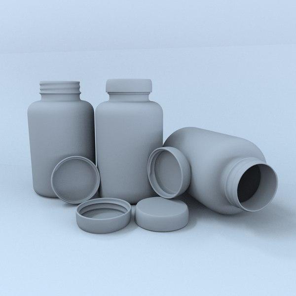 bootle vitamin plastik 3D model