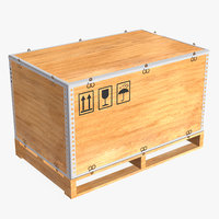 3D wooden packing crate