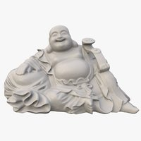 smiling buddha statue brings 3D model