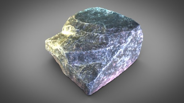 limestone rock stones 3D