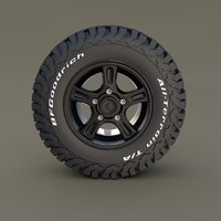offroad wheel goodrich 3D model