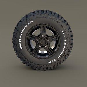 offroad wheel goodrich 3D model