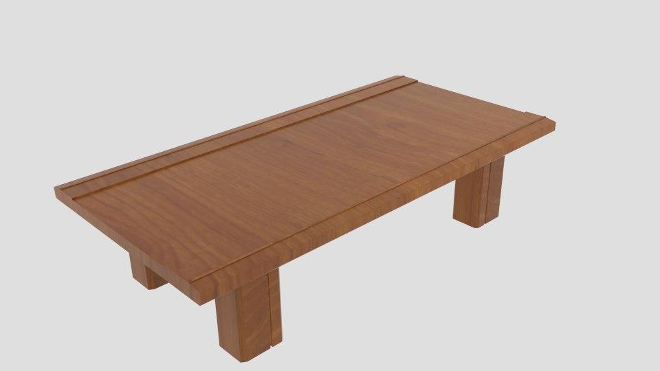 sanukiya-r japanese table 3D model