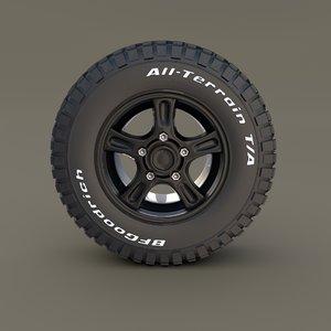 offroad wheel goodrich tire model
