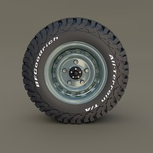 3D offroad wheel goodrich tire
