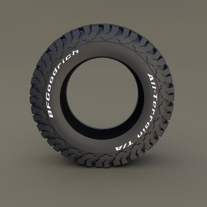 bf goodrich tire 3D