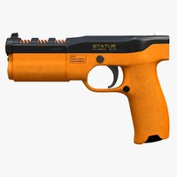Status - Sci Fi Plasma Gun Orange