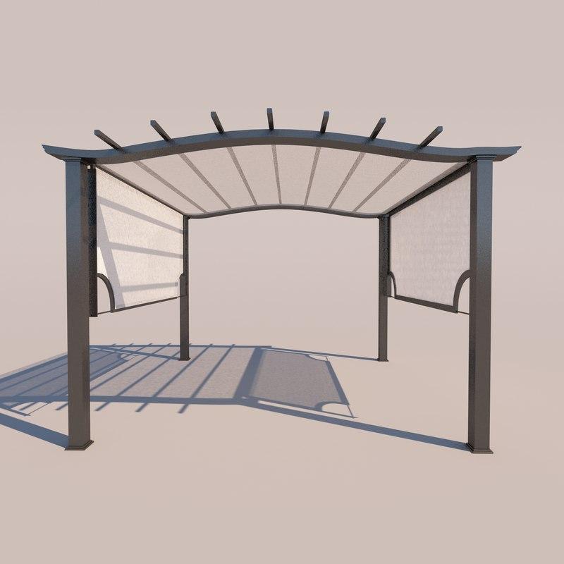 3D outdoor kiosk model