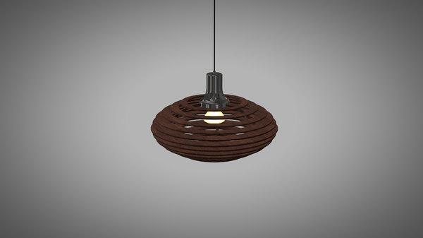 lamp pendant wood 3D