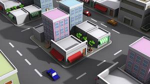 city roads games 3D model
