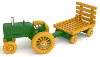 3D toy tractor