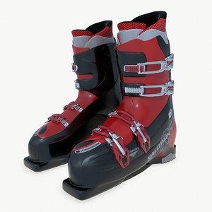 3D ski boots model