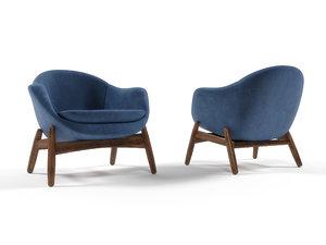 lounge armchair kofod-larsen 3D model