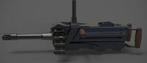 3D hard grenade launcher model