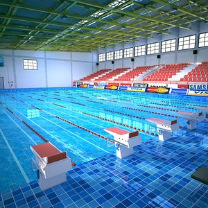 3D swimming olympic sport