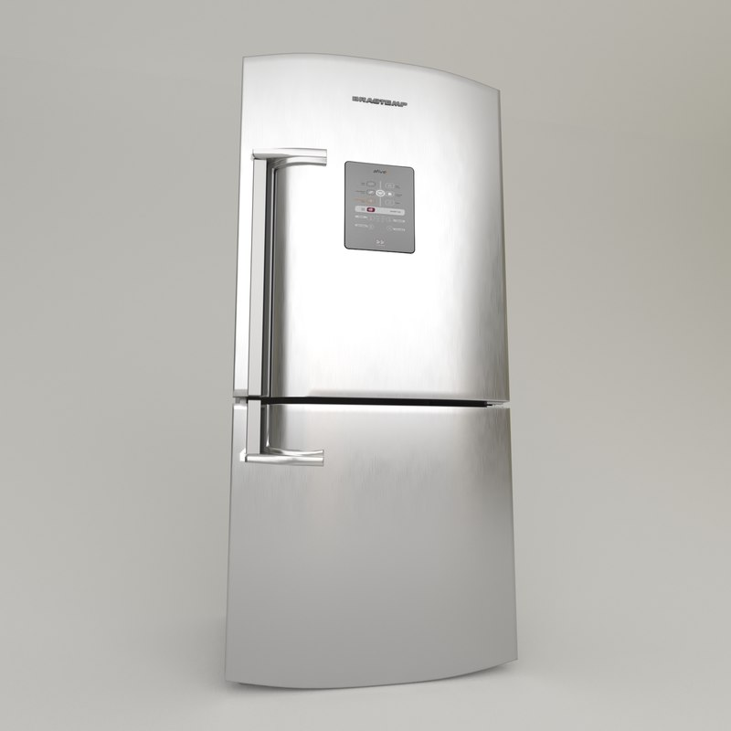 fridge brastemp frost inox 3D