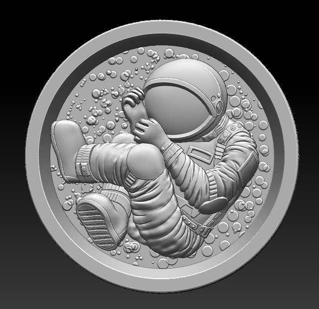 3D model stl astronaut