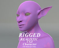 Rigged CGI Alien 3D Character
