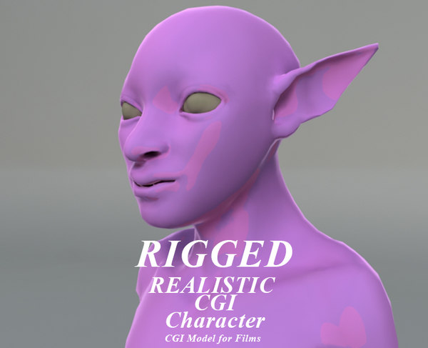 3D rigged cgi alien character