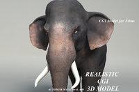 cgi elephant model