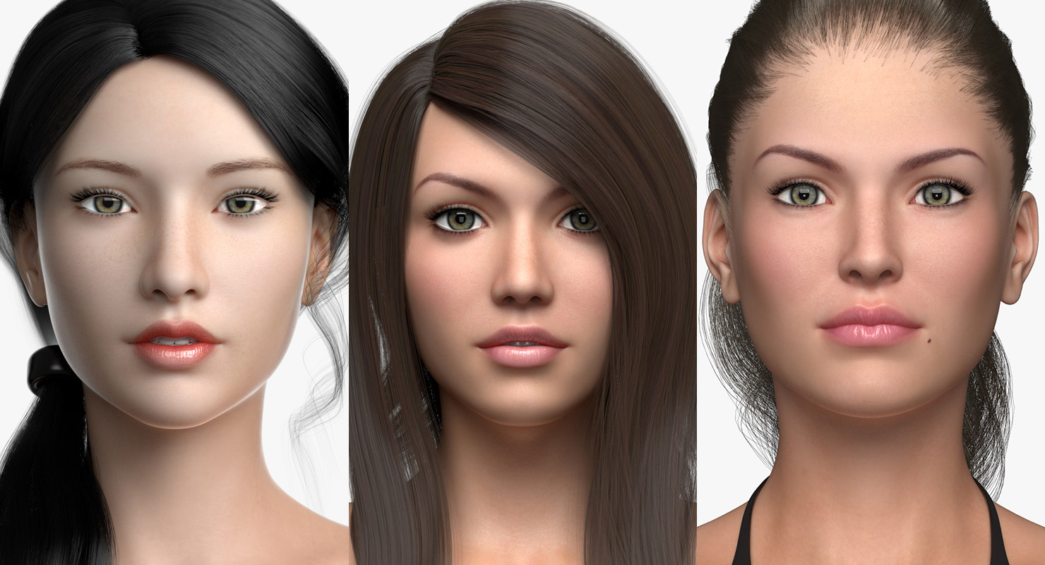 3D female characters
