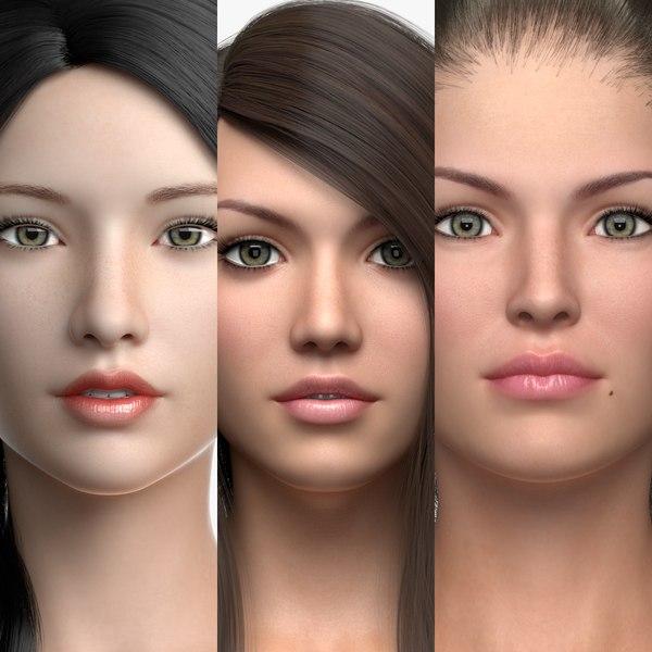 3D female characters