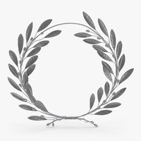 laurel wreath silver 3D model
