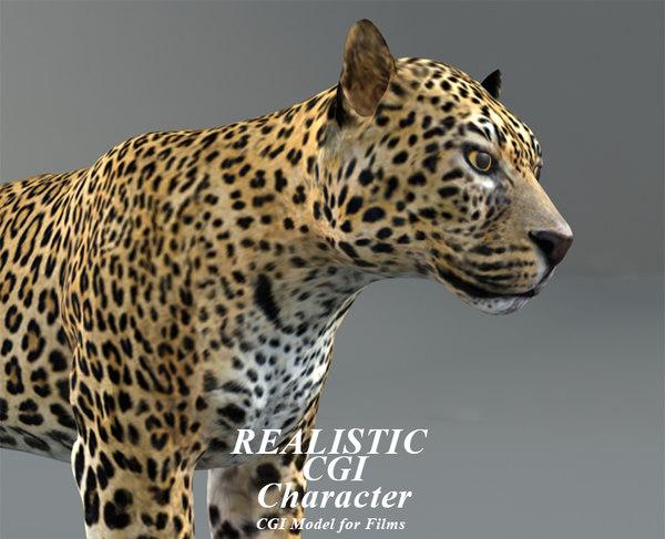3D leopard modeled model