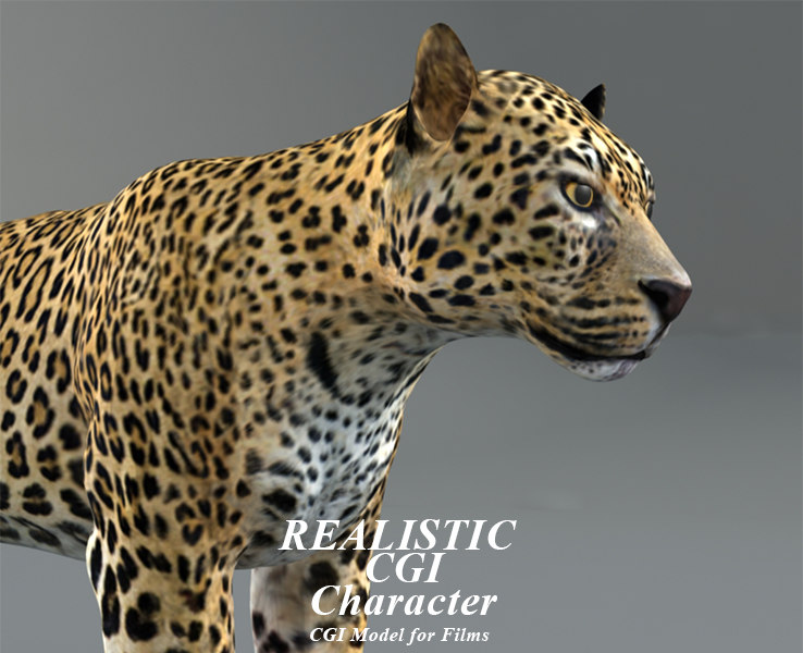 3D leopard modeled model