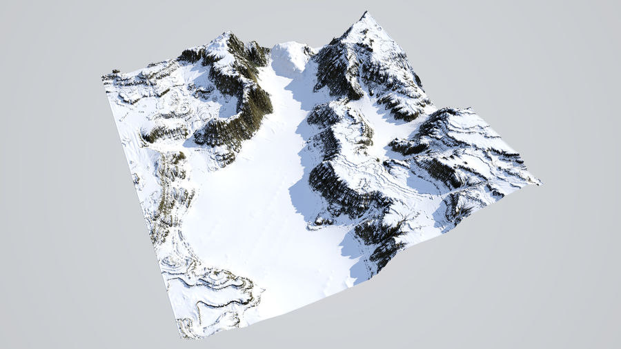 3D canyon - snow model