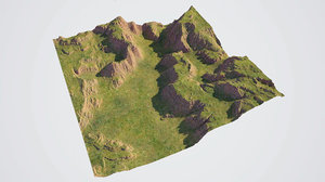 canyon - grass 3D model