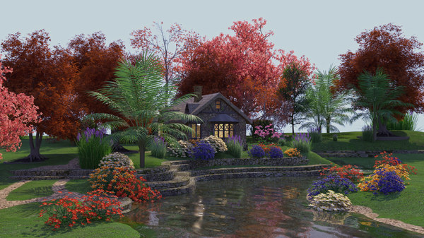 house landscape model