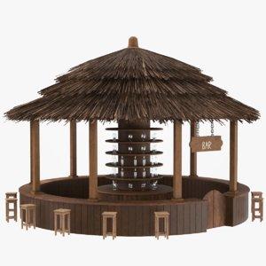 3D cafeteria bar model