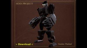 sema boxing robot 3D model