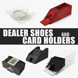 dealer shoes card holders 3D model