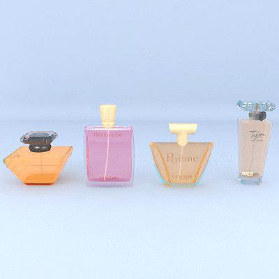 bottles perfumes 3D