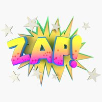 onomatopoeia comic book word 3D model