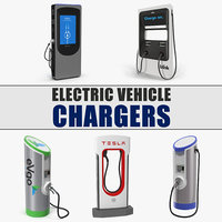 3D electric vehicle chargers 2 model