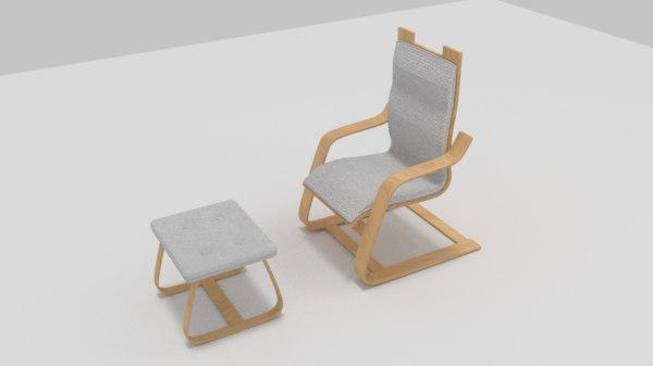 3D recliner chair model