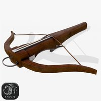3D model ready crossbow