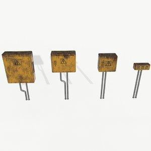 3D rusty panels model
