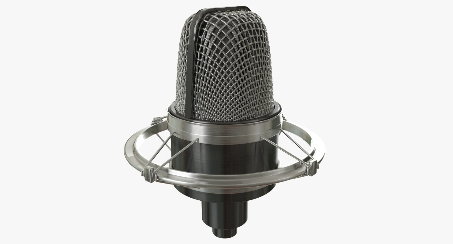 3D model microphone mic