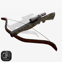 ready crossbow 3D model